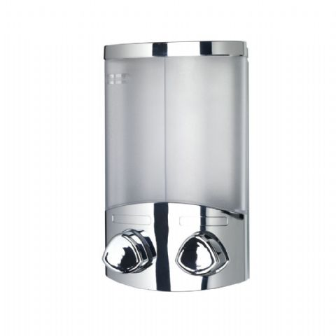 Croydex Euro Duo Bath Shower Soap & Shampoo Dispenser